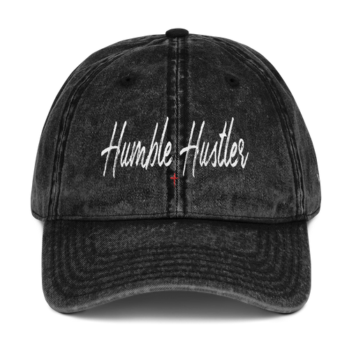Humble Hustler Vintage Cotton Twill Cap