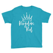 Load image into Gallery viewer, Kingdom Kid Youth Short Sleeve T-Shirt (White letters)