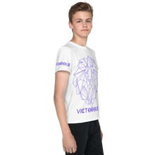 Load image into Gallery viewer, Lion of Judah Purple Youth T-Shirt