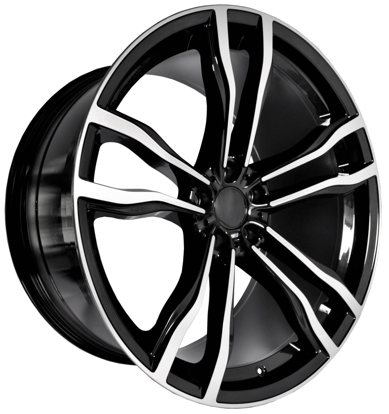 Full Set Of 4 22 Inch Black Staggered Wheels Rims Fit For Bmw X5 X5m E53 E70 F15 X6 X6m E71 F16 5623 Bm Wheels Car