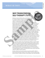 Transcending Self Therapy: Four-Session Individual Integrative Cognitive Behavioral Treatment - Book for Facilitators