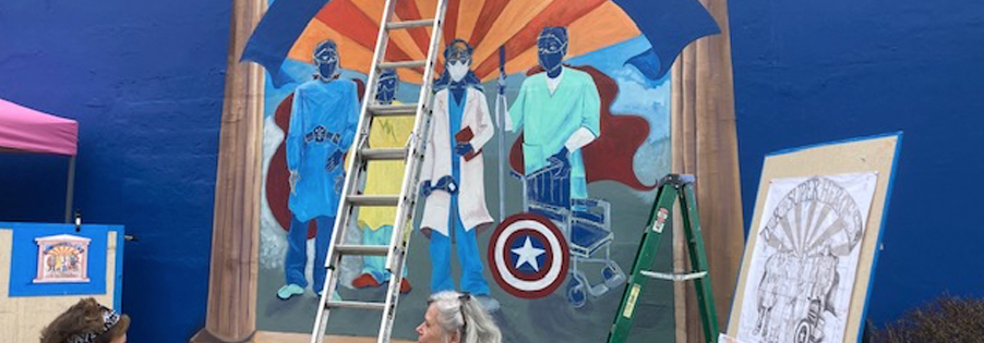 Mural Dedicated To Healthcare Heroes