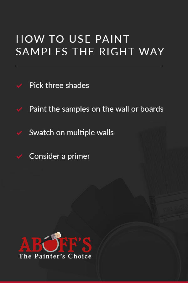 How to use paint samples