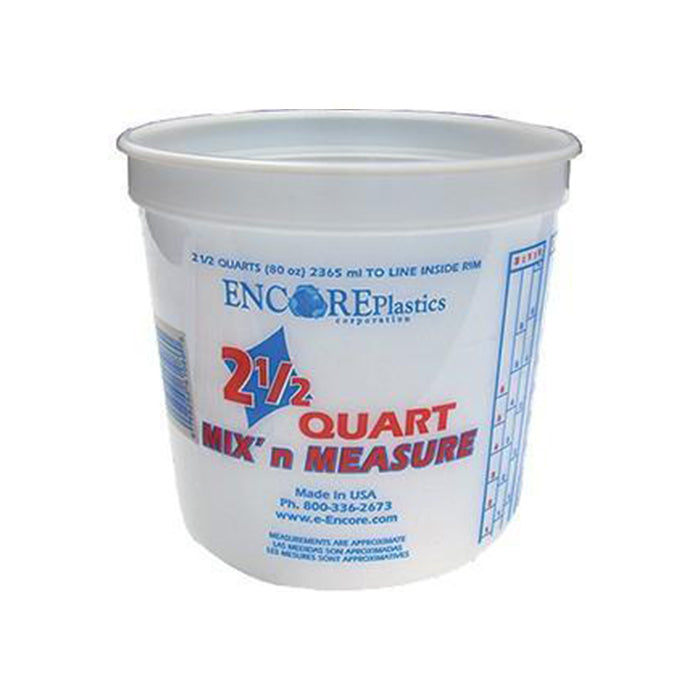 2.5 Quart Mix and Measure Plastic Pail, available at Aboff's in Long Island and New York.