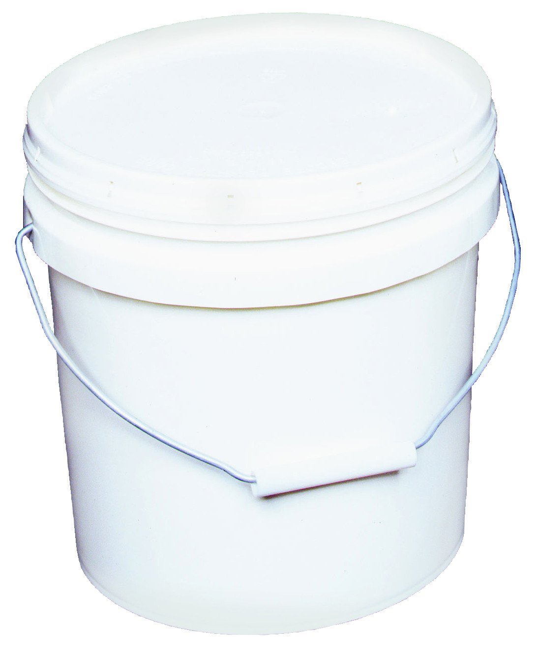 2 Gallon White Plastic Pail, available at Aboff's in Long Island and New York.