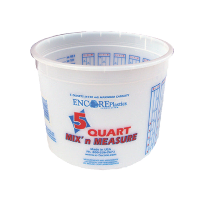 5 Quart Mix and Measure Plastic Pail, available at Aboff's in Long Island and New York.
