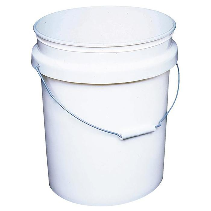 5 Gallon White Plastic Pail, available at Aboff's in Long Island and New York.