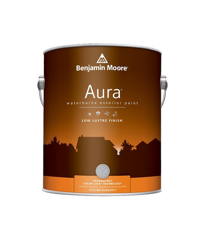 Benjamin Moore Aura Exterior Low Lustre Paint available at Aboff's.