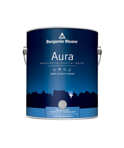Benjamin Moore Aura Exterior Semi-Gloss Paint available at Aboff's.