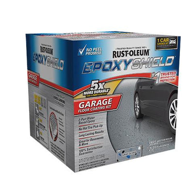 Rustoleum Epoxy Shield Gray Garage Floor Coating Kit, available at Aboff's in Long Island and New York.