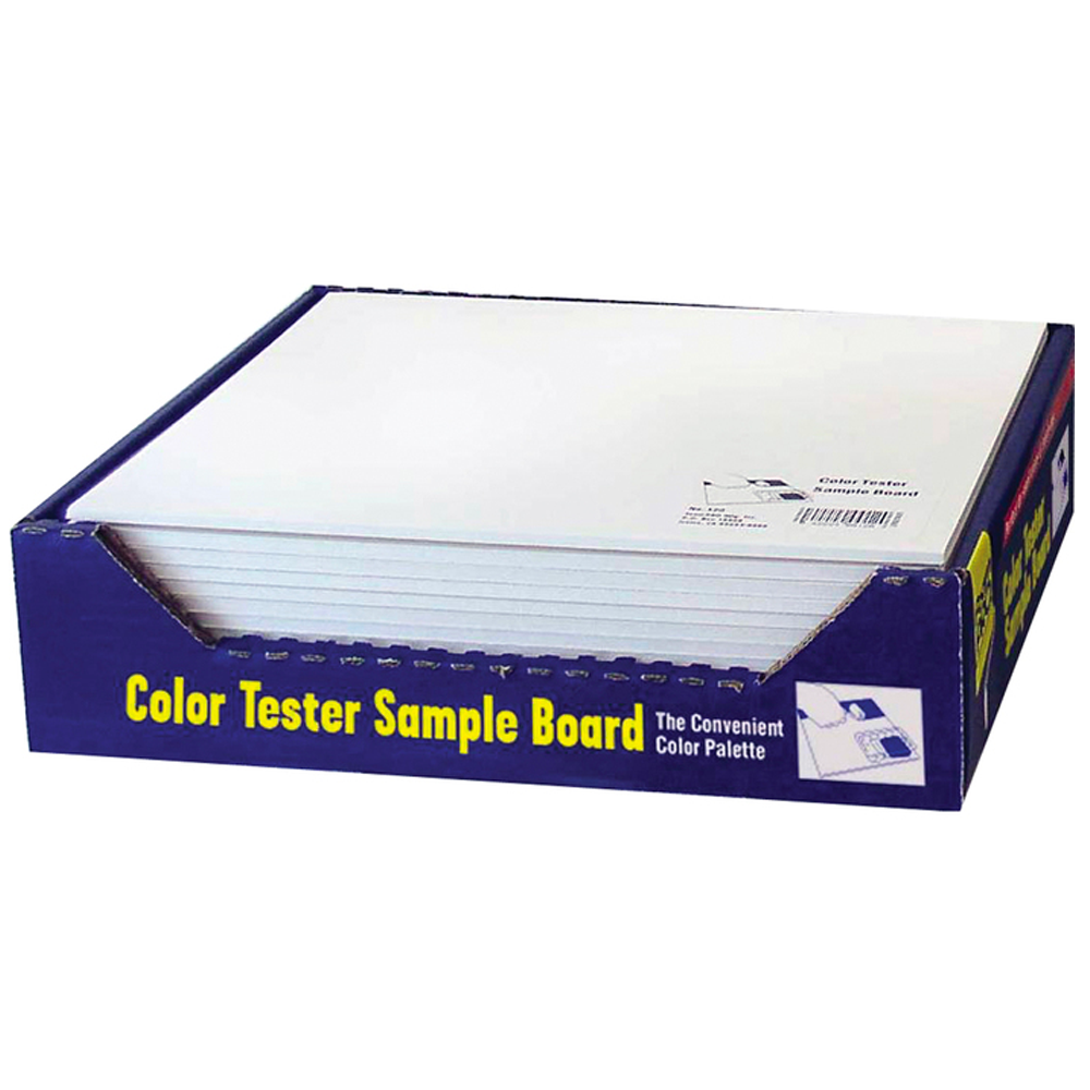 Color tester board, available at Aboff's in Long Island, NY.