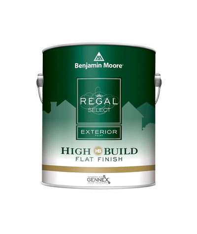 Benjamin Moore Regal Select High Build Flat Exterior Paint Gallon, available at Aboff's.