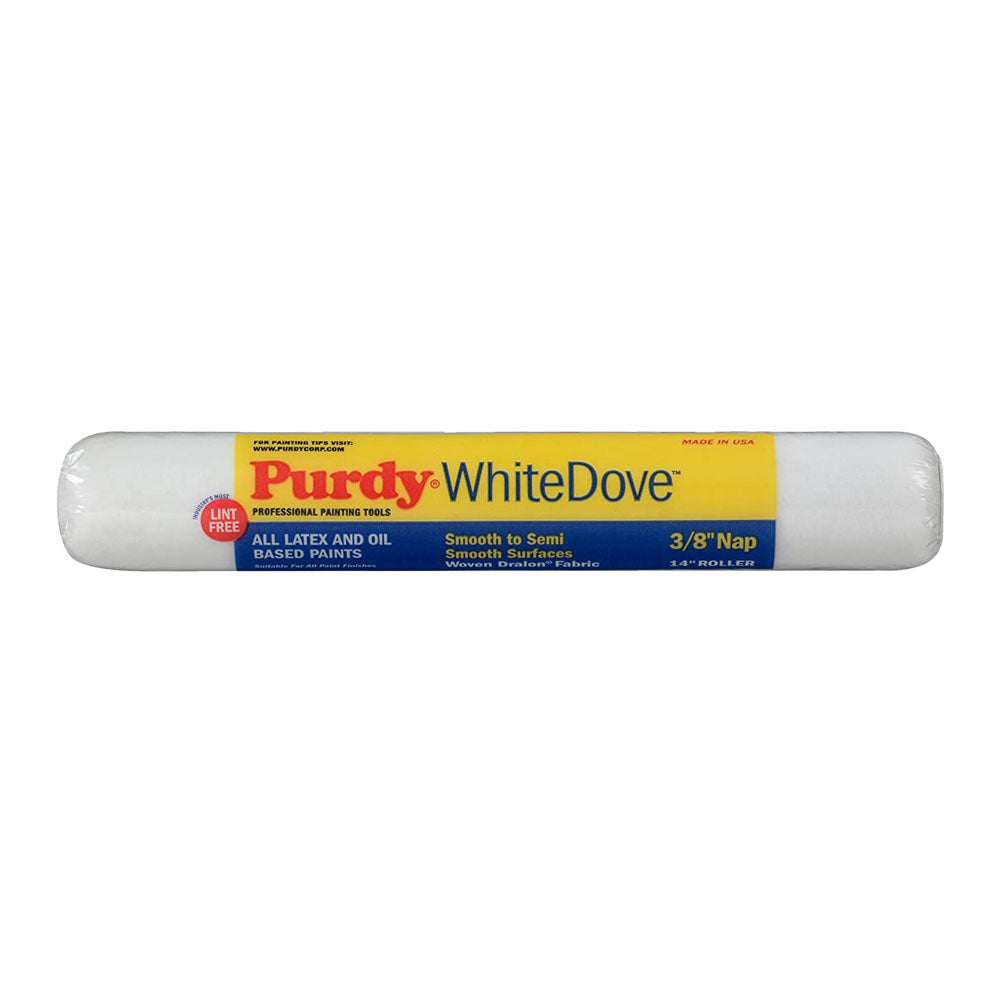 "Purdy 14x3/8"" white dove paint roller, available at Aboff's in Long Island and New York. Edit alt text"
