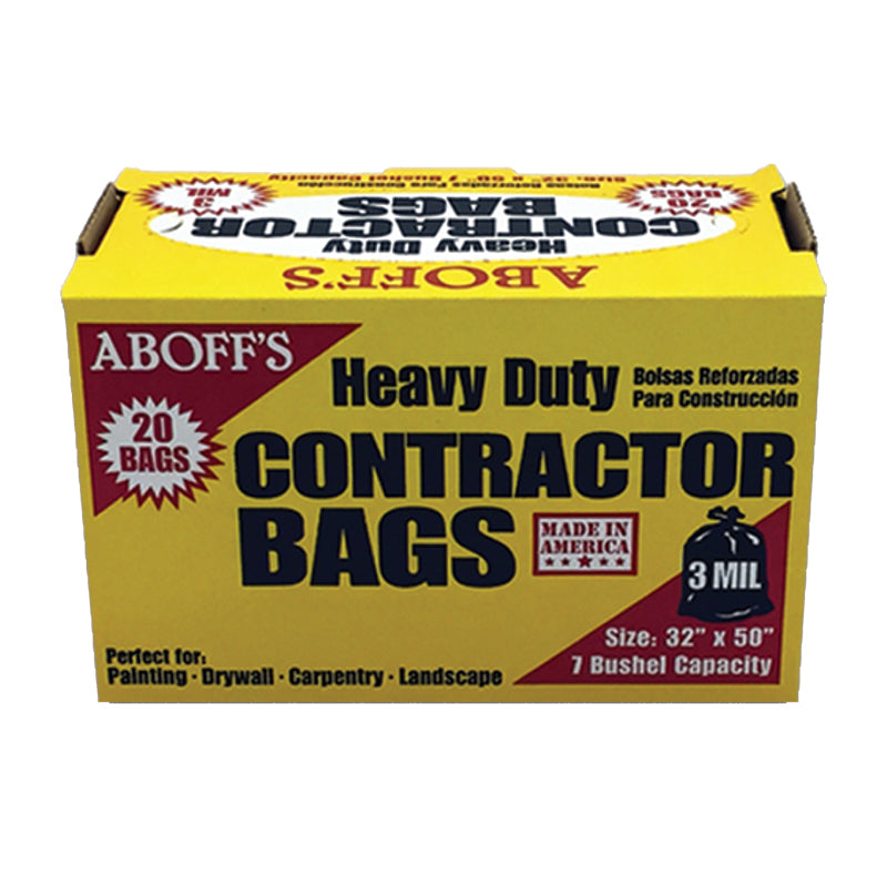 20 Contractor Bags, available at Aboff's in New York and Long Island.