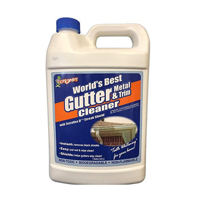 Gallon chomp gutter cleaner, available at Aboff's in New York and Long Island.