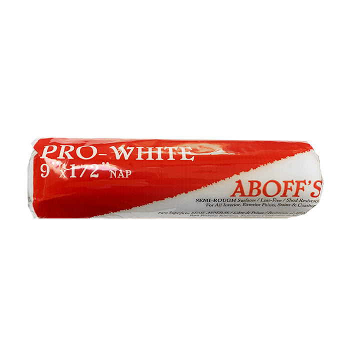 "9 x 1/2"" Pro White Roller Cover, available at Aboff's in New York and Long Island."