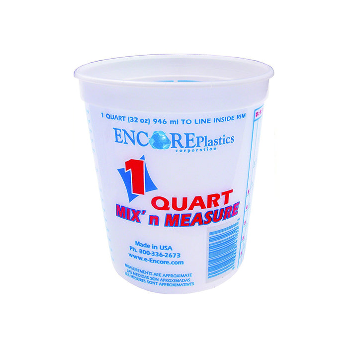 1 Quart Mix and Measure Plastic Pail, available at Aboff's in Long Island and New York.
