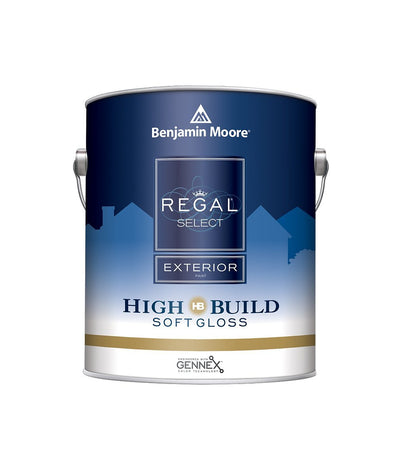 Benjamin Moore Regal Select Soft Gloss Exterior Paint Gallon, available at Aboff's.