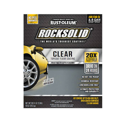 Rustoleum Rock Solid Garage Floor Coating Kit, available at Aboff's in Long Island and New York.