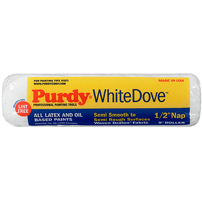 "Purdy 9x1/2"" white dove paint roller, available at Aboff's in Long Island and New York."