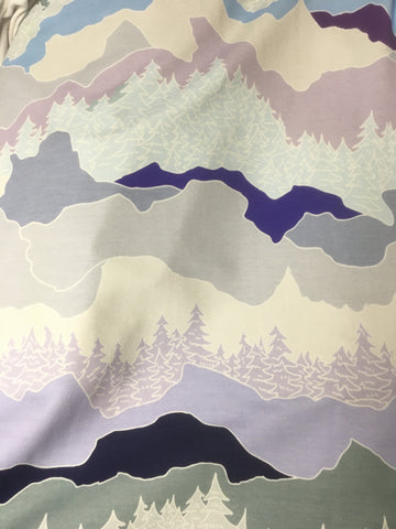 Pastel Mountains - Cotton FT Knit