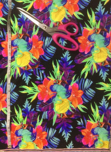 Hawaiian Floral - Neon Colouring