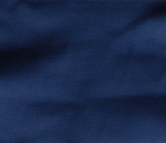 Navy Peony - Stretch Woven Solids