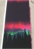 Northern Aurora Double Border Print