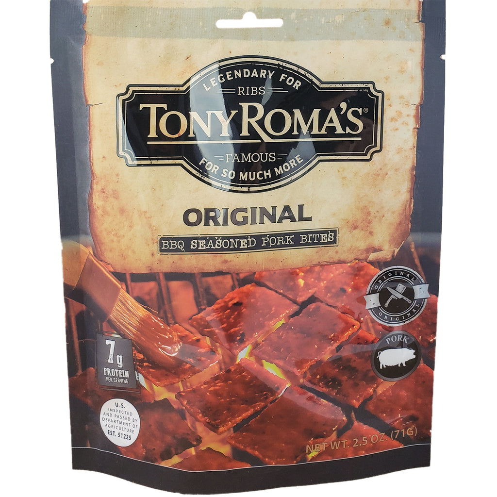 *New Tony Roma's BBQ Meat Snacks, July/Aug Launch Promo - 15% Off