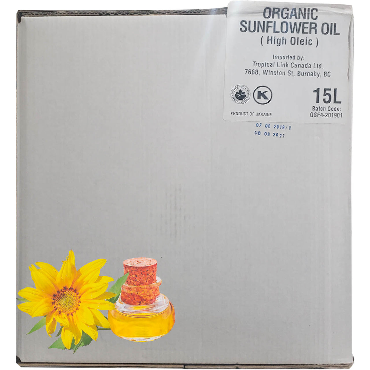Wild Tusker Organic High-Oleic Sunflower Oil (Foodservice Size)