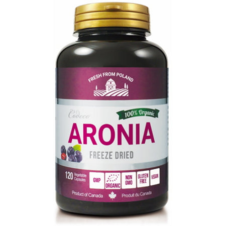 Codeco Nutrition Organic Aronia Freeze Dried Powder in Veg Caps.