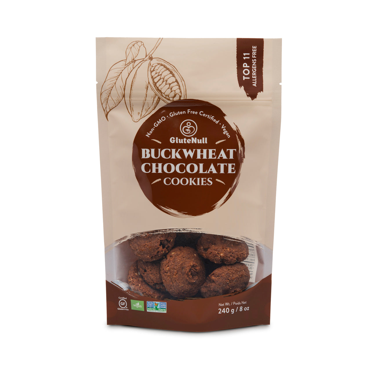 GluteNull Bakery Buckwheat Chocolate Cookie