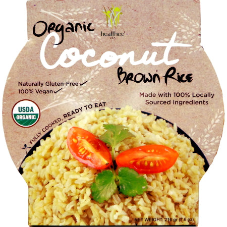 Healthee Organic Ready to Heat Brown Rice - Coconut