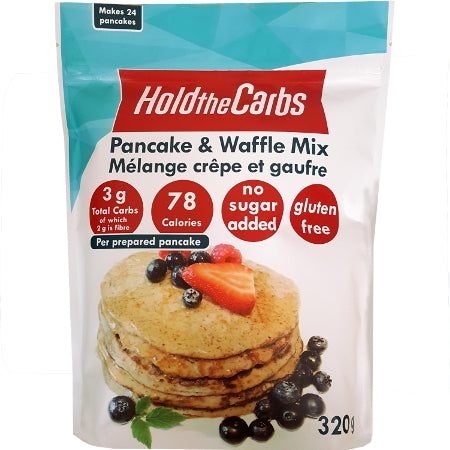 HoldTheCarbs Pancake and Waffle Mixes with Stevia