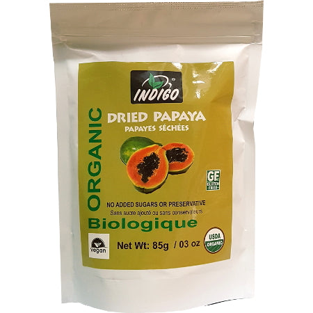 Indigo Organic Dried Papaya