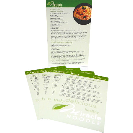 Miracle Noodle Recipe Cards- Miracle Noodle
