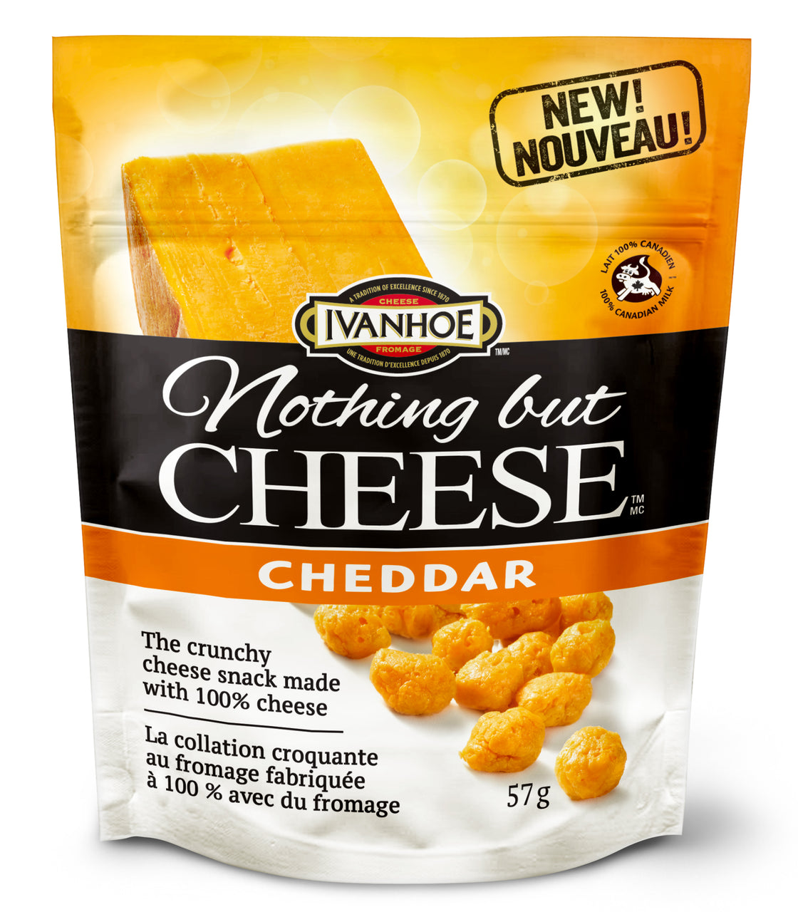 Ivanhoe Nothing But Cheese (57g Pouches)