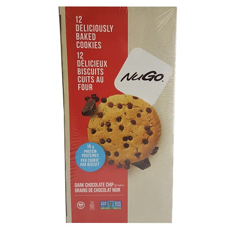 NuGo Nutrition Protein Cookies - Dark Chocolate Chip [12-Pack]