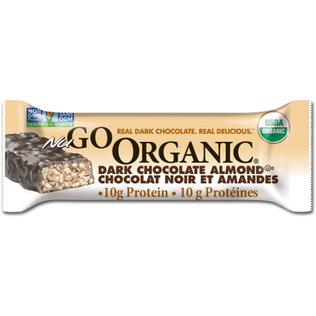 NuGo Nutrition Organic Bar - Dark Chocolate Almond [12-Pack]