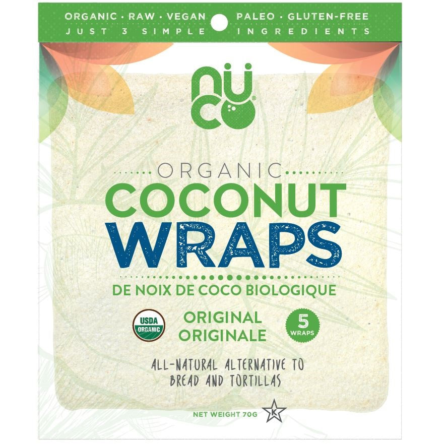 *New Nuco Organic Coconut Wraps, Aug Launch Promo - 25% Off