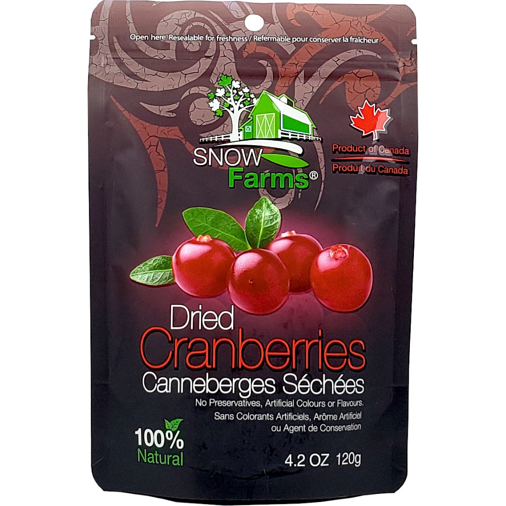 Snow Farms Canadian-Grown Dried Cranberries, August Promo - 25% Off
