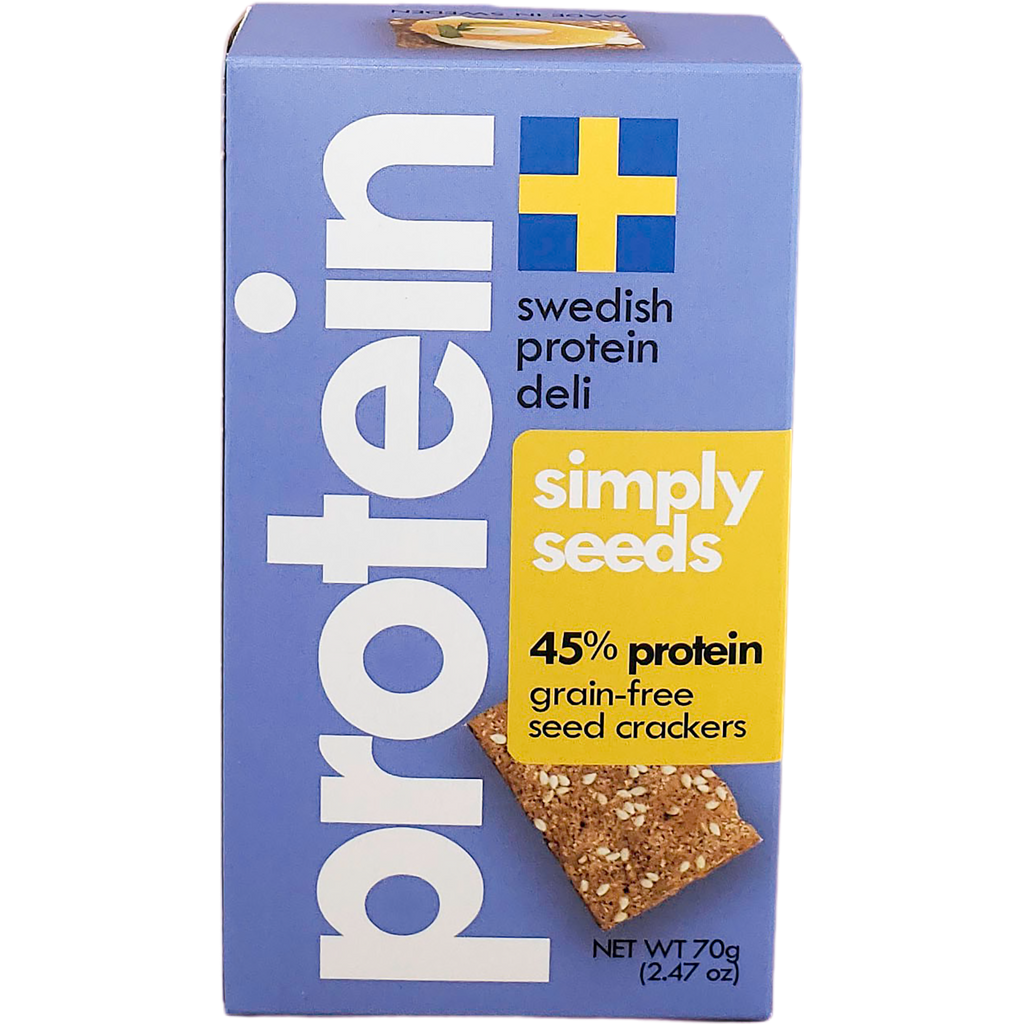 *New: Swedish Protein Deli Vegan Grain-Free Crackers, Launch Promo - 20% Off