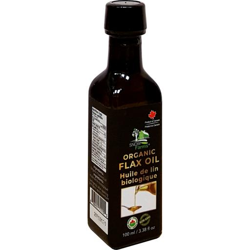 Snow Farms Organic Cold-Pressed Flax Seed Oil (100ml), CHFA Promo - 20% Off