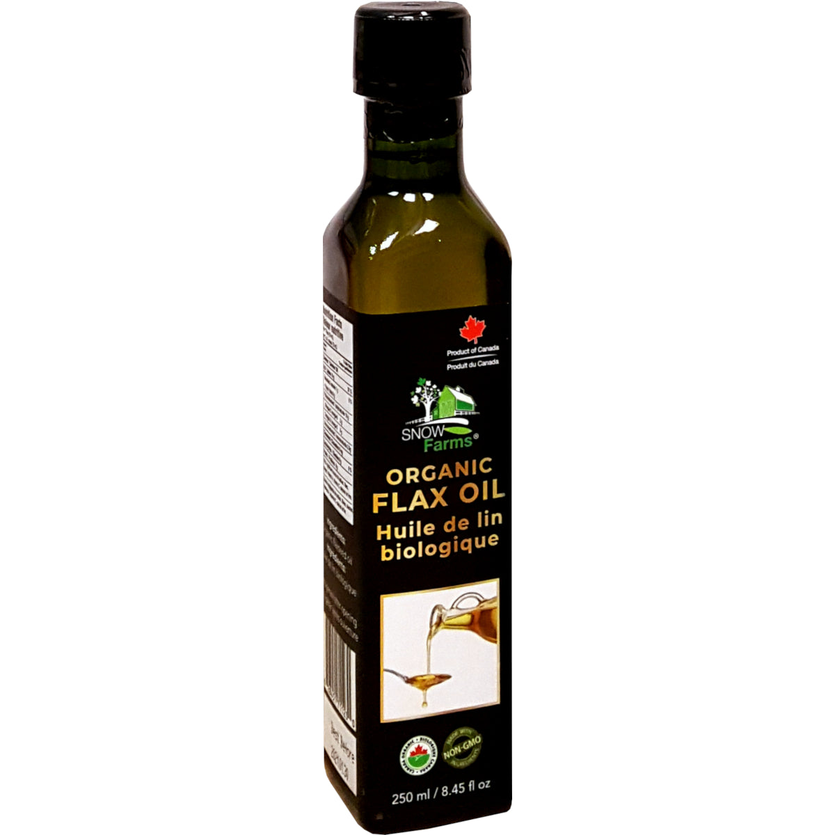 Snow Farms Organic Cold-Pressed Flax Seed Oil (250ml)