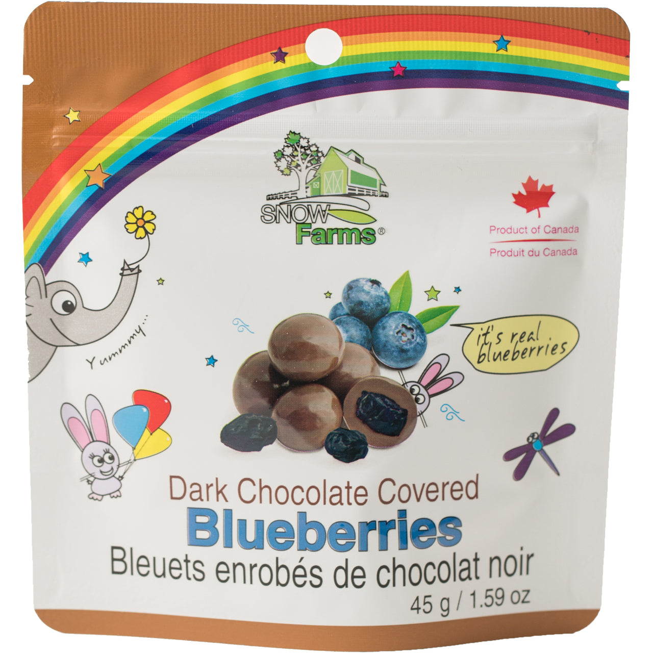 *New: Snow Farms Chocolate Covered Blueberries, Launch Promo - 20% Off