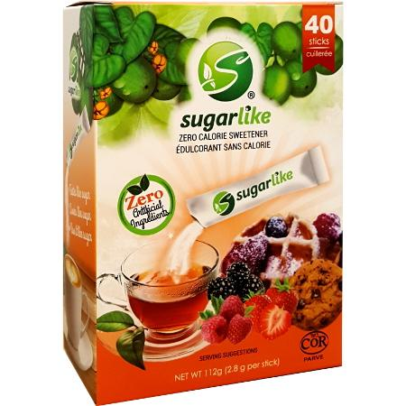 SugarLike Sweetener with Monk Fruit - 40x2.8g Sticks