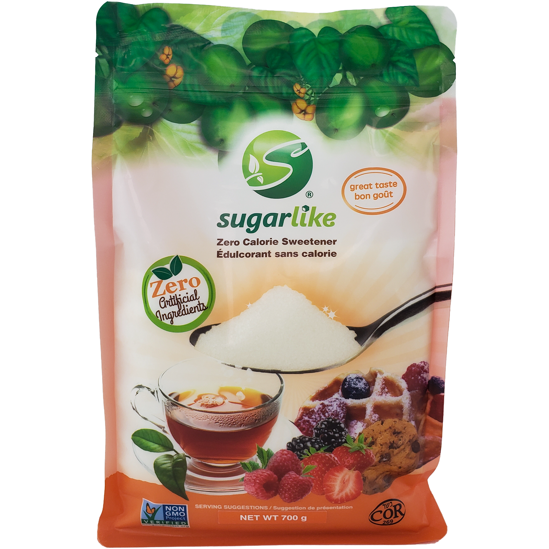 SugarLike Sweetener with Monk Fruit (700g Pouches)