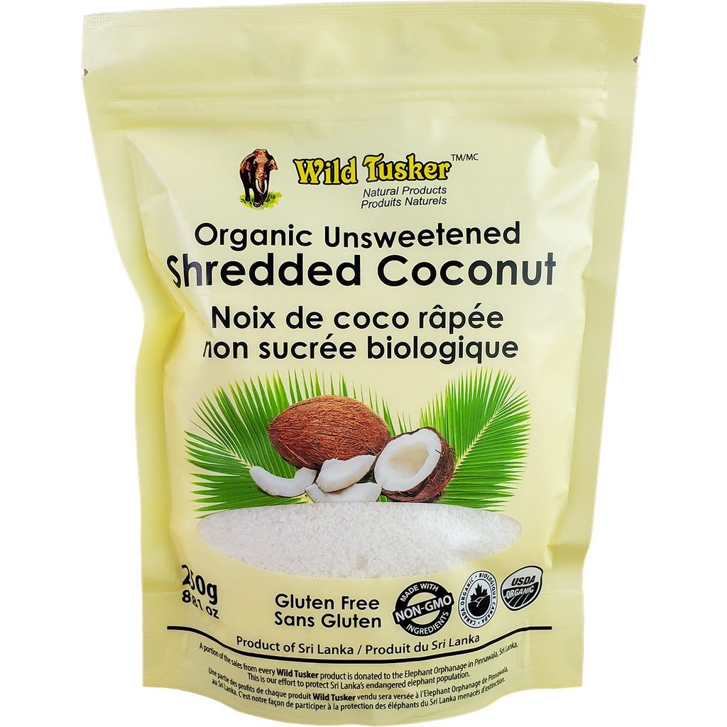 *New: Wild Tusker Organic Unsweetened Shredded Coconut, CHFA Promo - 20% Off