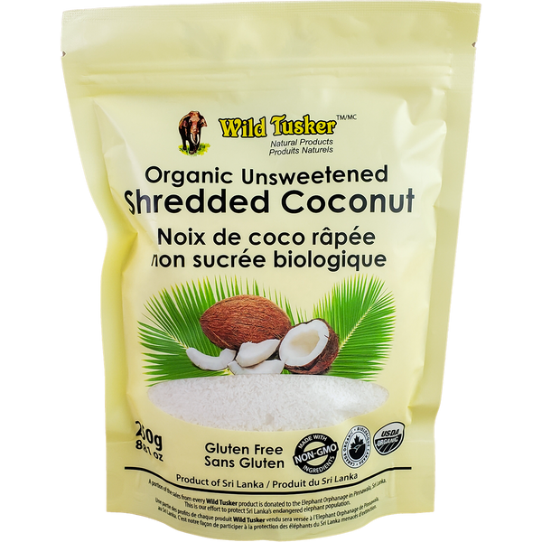 *New: Wild Tusker Organic Unsweetened Shredded Coconut