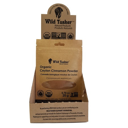 Wild Tusker Small Organic Ceylon Cinnamon - Powder - 12 Pack